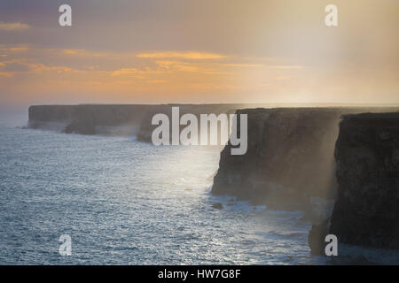 The Great Australian Bight - Bunda Cliffs - Nullarbor Plains, South Australia - Stock Photo