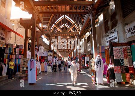 United Arab Emirates, Dubai, Bur Dubai Souq - Stock Photo