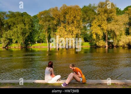 Estonia (Baltic States), Tartu region, Tartu, River Emajogi - Stock Photo