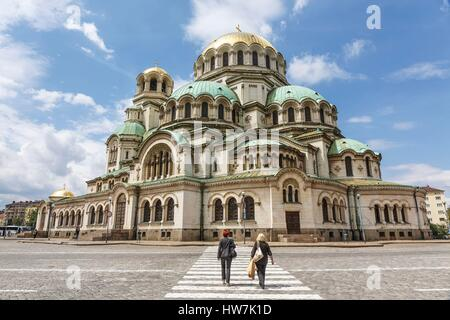 Bulgaria, Sofia, Alexandre Nevski orthodox cathedral - Stock Photo