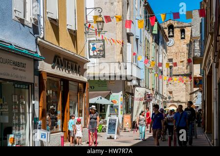France, Ariege, Foix, the old town - Stock Photo