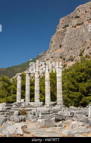 Ruins at Priene, Turkey - Stock Photo