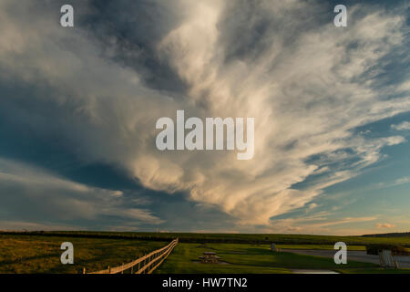 Clouds over Portrush, Country Antrim, Northern Ireland. - Stock Photo