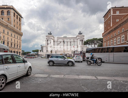 Italy Rome. Vittoriano - a monument in honor of the first king of united Italy, Victor Emmanuel II. - Stock Photo