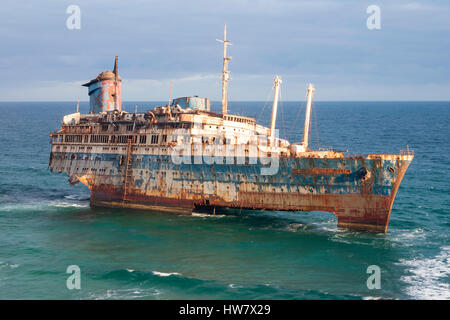 SS American Star Shipwreck On Fuerteventura Canary Islands Spain - American star cruise ship