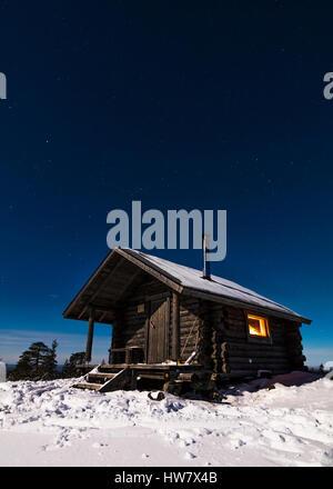 Kivalo open wilderness hut - Stock Photo