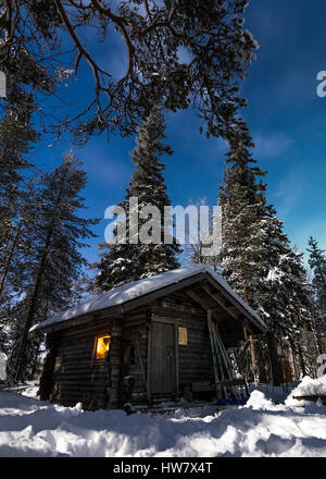 Hut in the woods - Stock Photo