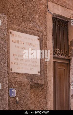 France corsica bonifacio maison napoleon bonaparte for Achat maison corse du sud