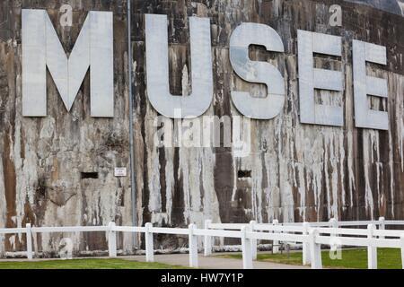 France, Pas de Calais, Cote d-Opale Area, Audinghen, Cap Gris Nez cape, Musee du Mur de Atlantique, Batterie Todt, - Stock Photo