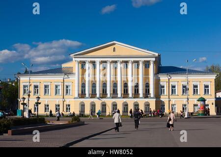 Russia, Kostroma Oblast, Golden Ring, Kostroma, Susaninskaya Square, courthouse - Stock Photo