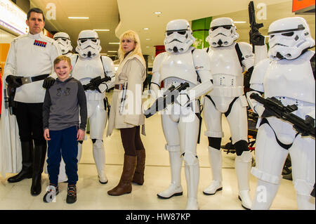 Birmingham NEC, UK. 18 Mar, 2017.  The sci-fi convention, Comic Con, takes place on the 18th and 19th March at the - Stock Photo