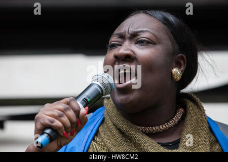 London, UK. 18th March, 2017. Phyll Opoku-Gyimah, co-founder, trustee and executive director of UK Black Pride, - Stock Photo