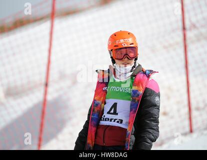 Sierra Nevada, Spain. 16th Mar, 2017. Tomoka Takeuchi (JPN) Snowboarding : Tomoka Takeuchi of Japan during the 2017 - Stock Photo