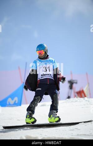 Sierra Nevada, Spain. 16th Mar, 2017. Shinnosuke Kamino (JPN) Snowboarding : Shinnosuke Kamino of Japan in the 2017 - Stock Photo