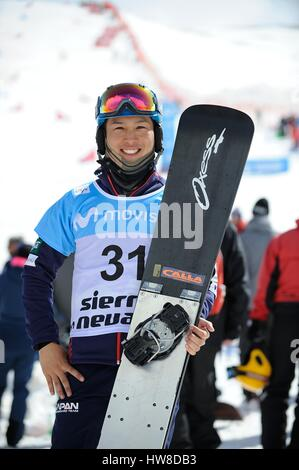 Sierra Nevada, Spain. 16th Mar, 2017. Shinnosuke Kamino (JPN) Snowboarding : Shinnosuke Kamino of Japan poses during - Stock Photo