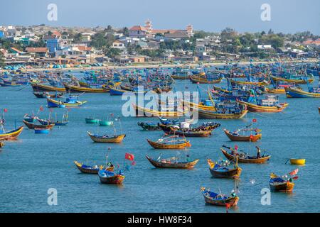 Vietnam, South Central Coast region, Mui Ne fishing village - Stock Photo