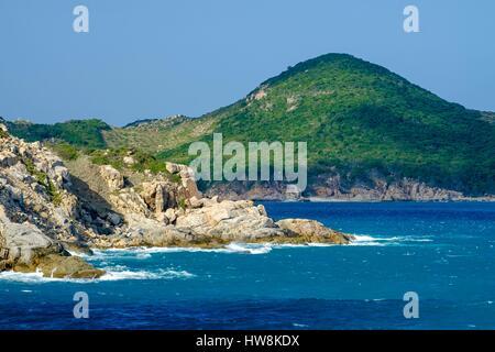 Vietnam, Ninh Thuan province, near Phan Rang, Nui Cha National Park, Vinh Hy bay - Stock Photo