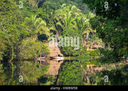 Guatemala, Izabal department, Rio Dulce river - Stock Photo