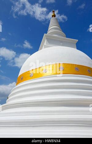 Sri Lanka, North Central Province, Anuradhapura, quoting sacred, listed as World Heritage by UNESCO, Dagoba Thuparama - Stock Photo