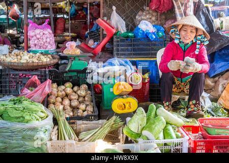 Vietnam, Khanh Hoa province, Nha Trang City, the market - Stock Photo
