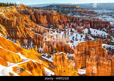 Bryce Canyon National Park in winter, Utah - Stock Photo