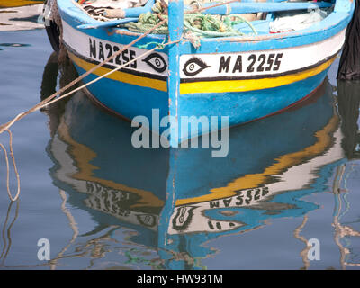 detail vintage boat painted with arabic text - Stock Photo