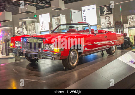 1973 Cadillac Eldorado convertable owned by Chuck Berry, on permanent display at the Smithsonian's National Museum - Stock Photo