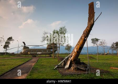 Vietnam, DMZ Area, Quang Tri Province, Khe Sanh, Former Khe Sanh US Combat Base, museum, former US Army, CH-47 Chinook - Stock Photo