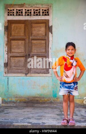 Vietnam, DMZ Area, Quang Tri Province, young girl - Stock Photo