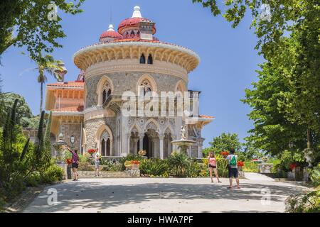 Portugal, Lisboa e Setubal Province, Sintra listed as World heritage by UNESCO, the Monserrate palace - Stock Photo