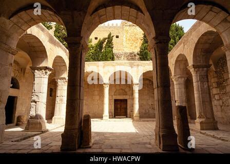 Tunisia, Northwest region, El Kef or Le Kef, Courtyard of Basilica of Jaama el-Kebir - Stock Photo