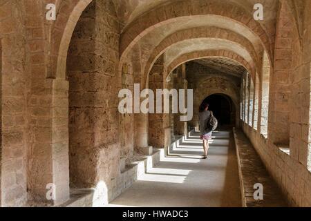 France, Herault, Saint Guilhem le Desert, Gellone Abbey on the Routes of Santiago de Compostela, listed as World - Stock Photo