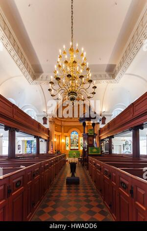 United States, South Carolina, Charleston, Kahal Kadosh Beth Elohim Synagogue, oldest continuously used synagogue - Stock Photo