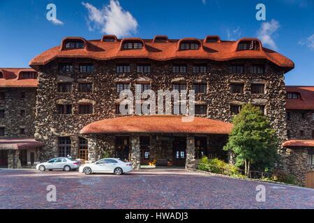 United States, North Carolina, Asheville, The Grove Park Inn - Stock Photo