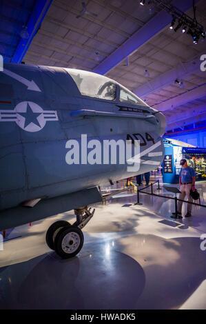 United States, North Carolina, Charlotte, Carolina's Aviation Museum - Stock Photo