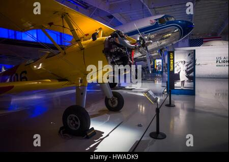 United States, North Carolina, Charlotte, Carolina's Aviation Museum, interior - Stock Photo
