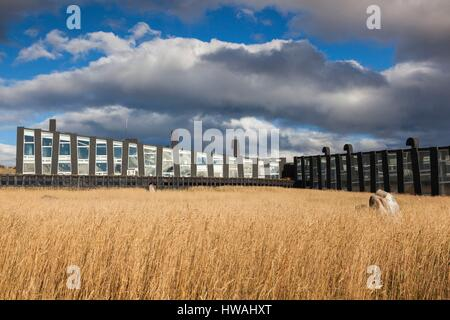 Chile, Magallanes Region, Puerto Natales, Hotel Remota, exterior - Stock Photo