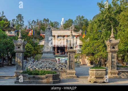 Vietnam, South Central Coast region, Khanh Hoa province, Nha Trang, Long Son pagoda - Stock Photo