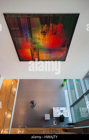 Germany, Nordrhein-Westfalen, Bonn, Arithmeum, museum of technology, science and art, interior - Stock Photo