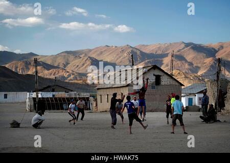 Tajikistan, Gorno-Badakhshan, the Tajik National Park and the Pamir Mountains listed as World Heritage by UNESCO, - Stock Photo