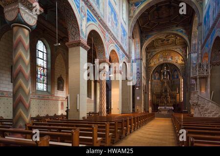 Germany, Baden-Wurttemburg, Black Forest, Gengenbach, Gengenbach Abbey, Benedictine Monastery, interior - Stock Photo