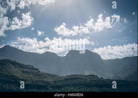 central Gran Canaria, view from the top of mountai, above the clouds - Stock Photo