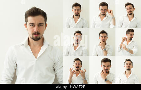 Set of emotions. Different emotions. - Stock Photo