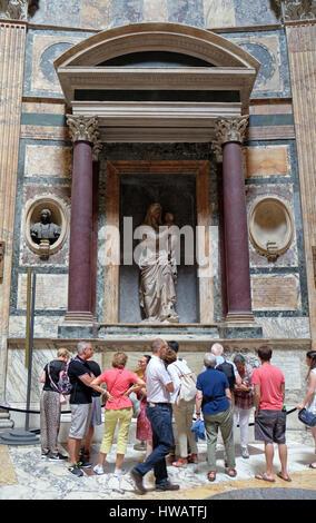 Interior of Pantheon, Piazza della Rotonda, Historic Center, Rome, Italy on September 01, 2016. - Stock Photo