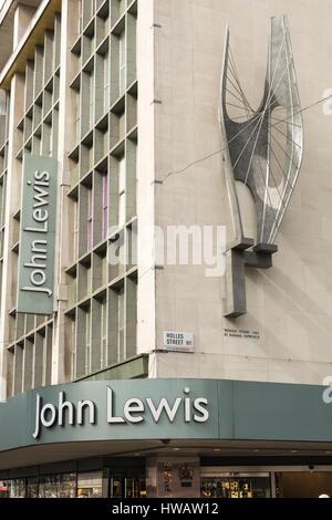 The John Lewis Department store on Oxford Street, London, UK - Stock Photo