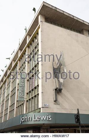 The John Lewis Department store on Oxford Street, London, UK - Stock Photo