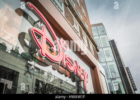 Disney Store, Oxford Street, London, UK - Stock Photo