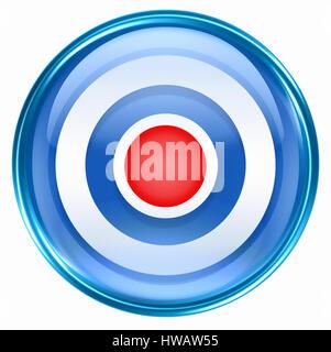 Record icon blue, isolated on white background. - Stock Photo