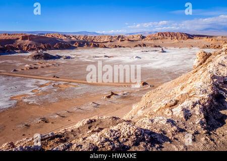 Valle de la Luna landscape in San Pedro de Atacama, Chile - Stock Photo