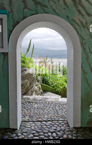 Portmeirion Italianate village, Gwynedd, Wales, UK. - Stock Photo